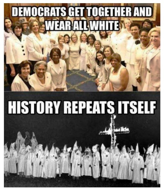 Image result for democrats get together and wear all white