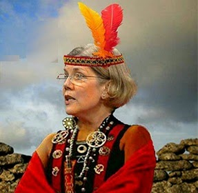 Image result for pic of elizabeth warren in indian feathers headdress