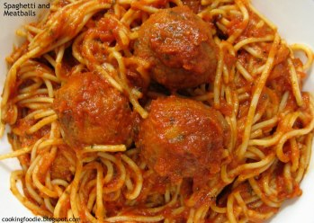 Image result for huge pot of spaghetti and meatballs